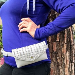 Handbags - Vegan silver Stone Fanny Pack
